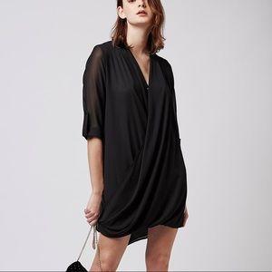 Topshop Drape Front Dress